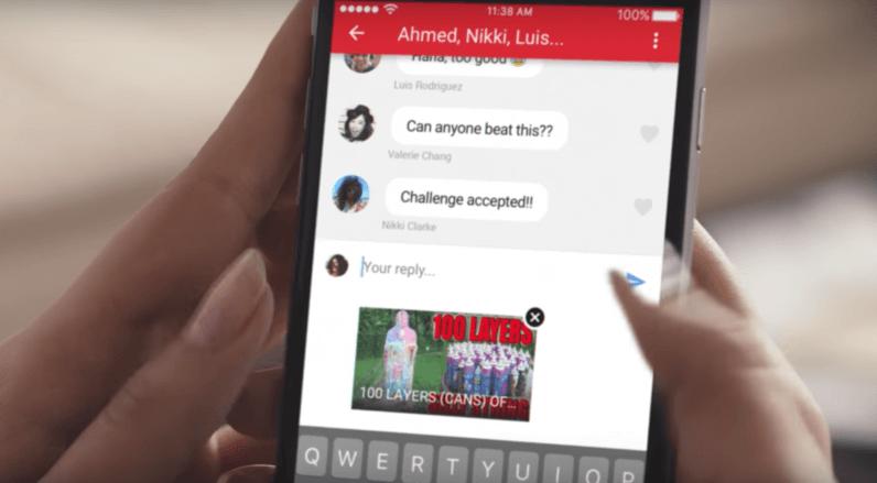 Вмобильном YouTube появится интегрированный мессенджер