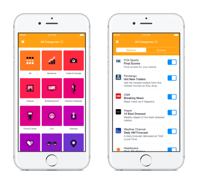 Приложение Notify от Facebook выведет новости и события на экран блокировки