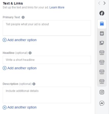 Facebook запустил новую функцию, которая позволяет рекламодателям добавлять несколько вариантов заголовков и текстов