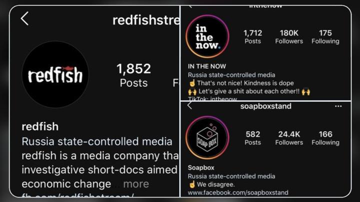 Instagram помечает СМИ подконтрольные государству