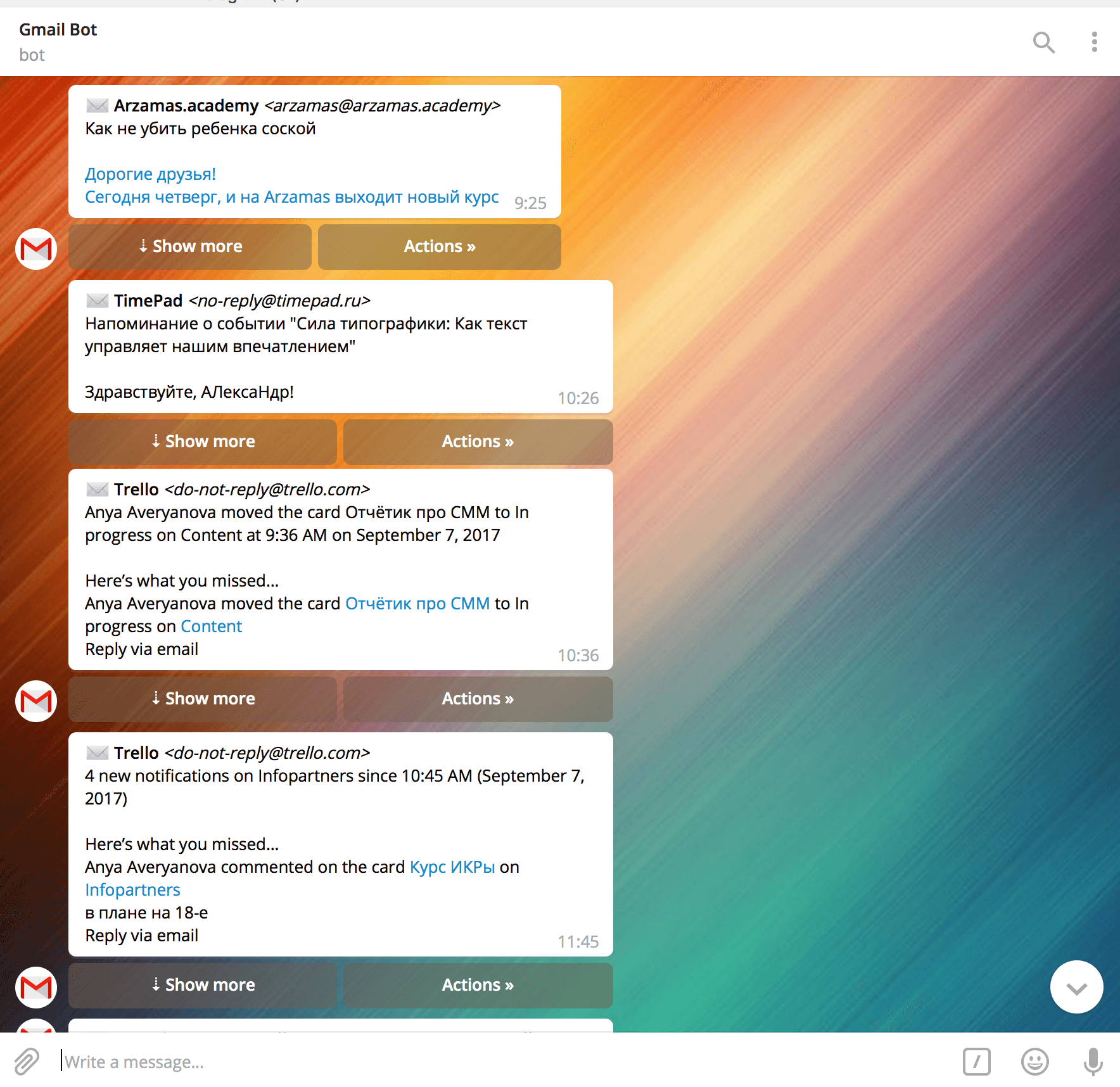 Что умеют боты в Telegram