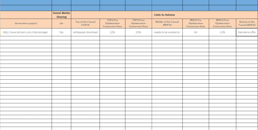 Spreadsheet Template Excel