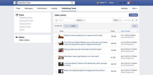 Facebook запускает новые инструменты для издателей видеоконтента