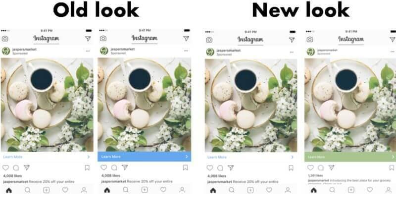 Instagram провел редизайн CTA-панели в объявлениях