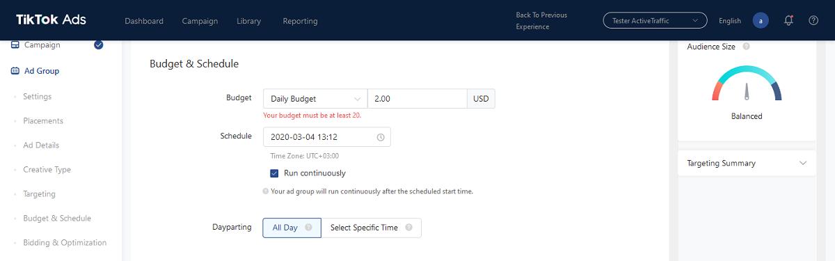 Budget & Shedule