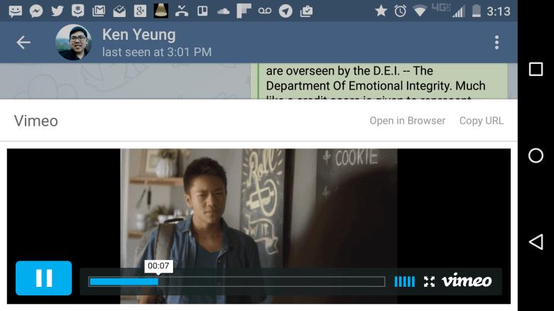 Telegram позволит смотреть ролики изYouTube иосуществлять поиск почату