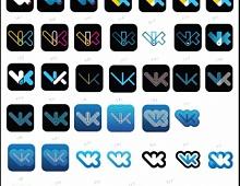 Так мог бы выглядеть логотип ВКонтакте