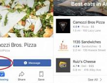 Facebook запустил опцию «Заказ еды»