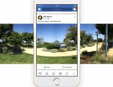 В приложении Facebook можно делать 360-градусные фото