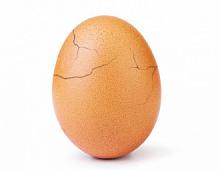 Яйцо-рекордсмен Instagram треснуло