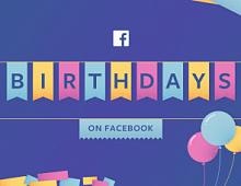 Facebook: новые возможности поздравить друзей с Днем рождения